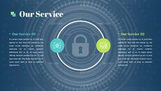 보안 회사 피치덱 프레젠테이션용 Google 슬라이드 테마_08