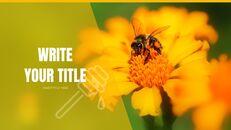 허니비(꿀벌) 창의적인 구글슬라이드_15