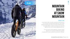 산악 자전거 파워포인트 프레젠테이션 디자인_22
