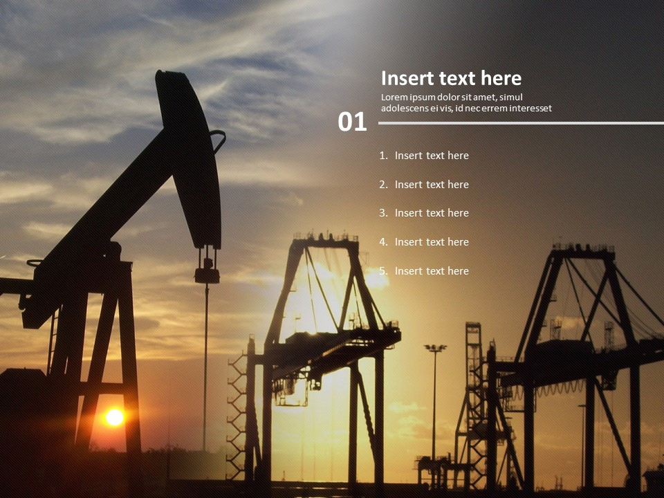 Free Powerpoint Template Oil Industry