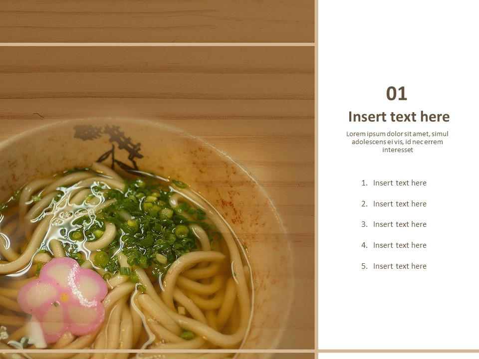 Free Powerpoint Templates Design A Bowl Of Udon