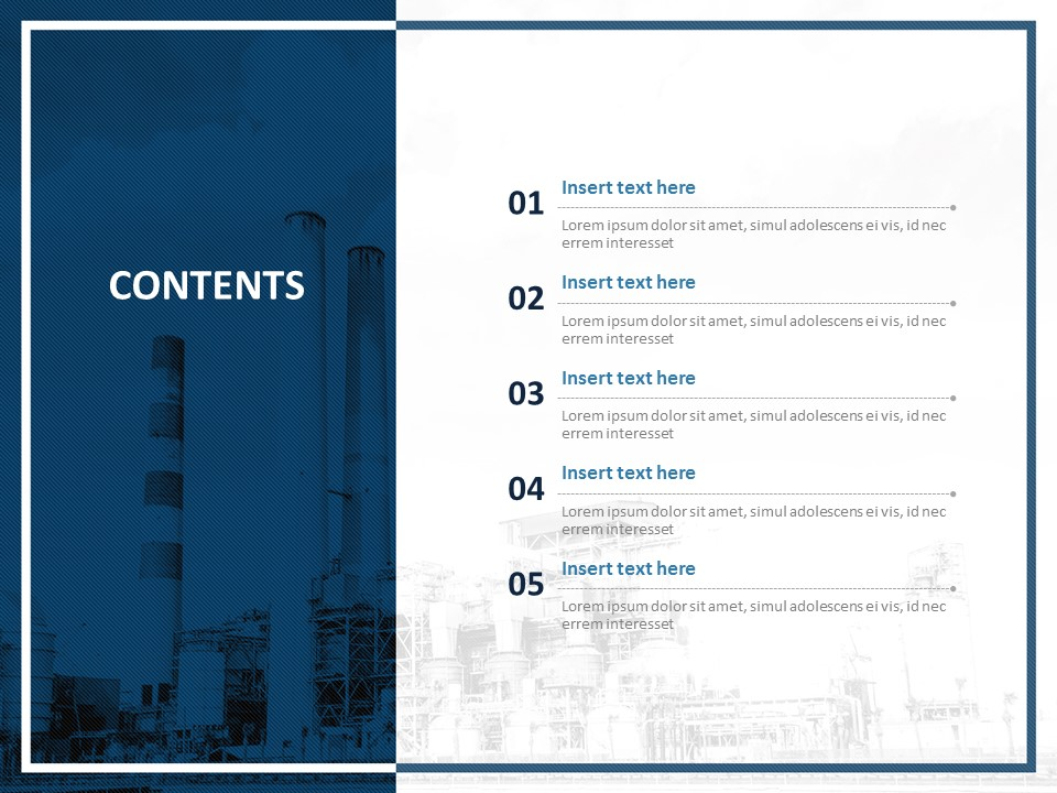 Free Ppt Template Factories And Chimneys