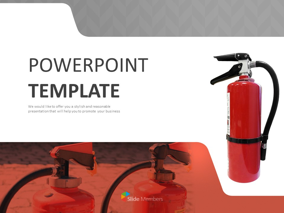 Free Ppt Template Fire Extinguisher