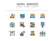 호텔 서비스 벡터 아이콘 세트_03