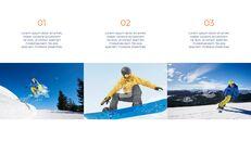 스노우 보드 & 스키 PPT 테마 슬라이드_06