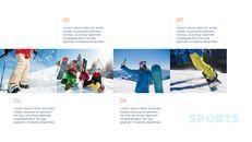 스노우 보드 & 스키 PPT 테마 슬라이드_10