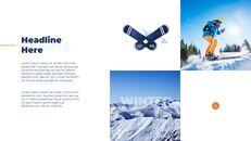 스노우 보드 & 스키 PPT 테마 슬라이드_18