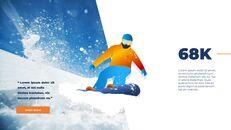 스노우 보드 & 스키 PPT 테마 슬라이드_19