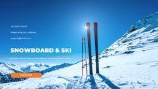 스노우 보드 & 스키 프레젠테이션 템플릿_40
