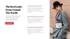 최신 스트리트 스타일 패션 심플한 파워포인트 템플릿 디자인_05
