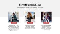 최신 스트리트 스타일 패션 심플한 파워포인트 템플릿 디자인_11