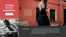 최신 스트리트 스타일 패션 심플한 파워포인트 템플릿 디자인_19