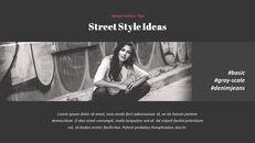최신 스트리트 스타일 패션 심플한 파워포인트 템플릿 디자인_27