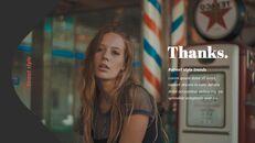 최신 스트리트 스타일 패션 심플한 파워포인트 템플릿 디자인_40