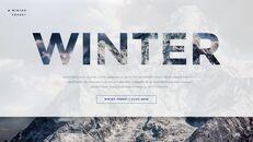겨울 숲 간단한 디자인 템플릿_09