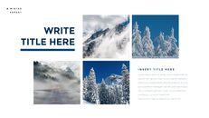 겨울 숲 간단한 디자인 템플릿_10
