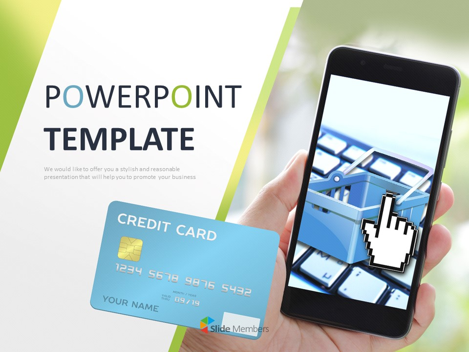 A Mobile Credit Card Free Ppt Template