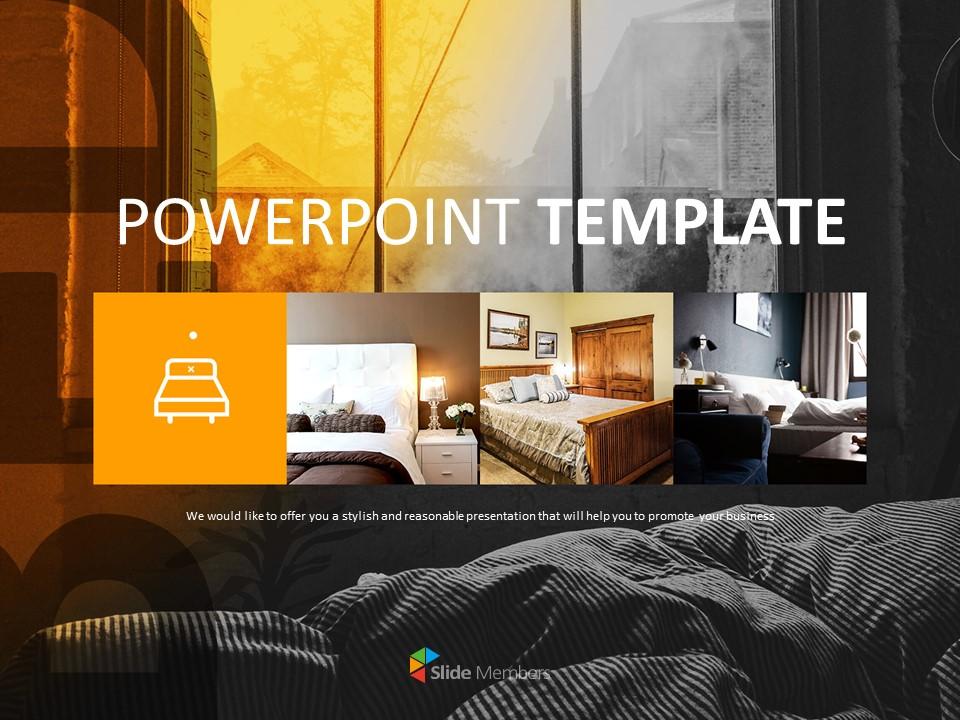 Bedroom Interior Free Template Design Ppt Slides