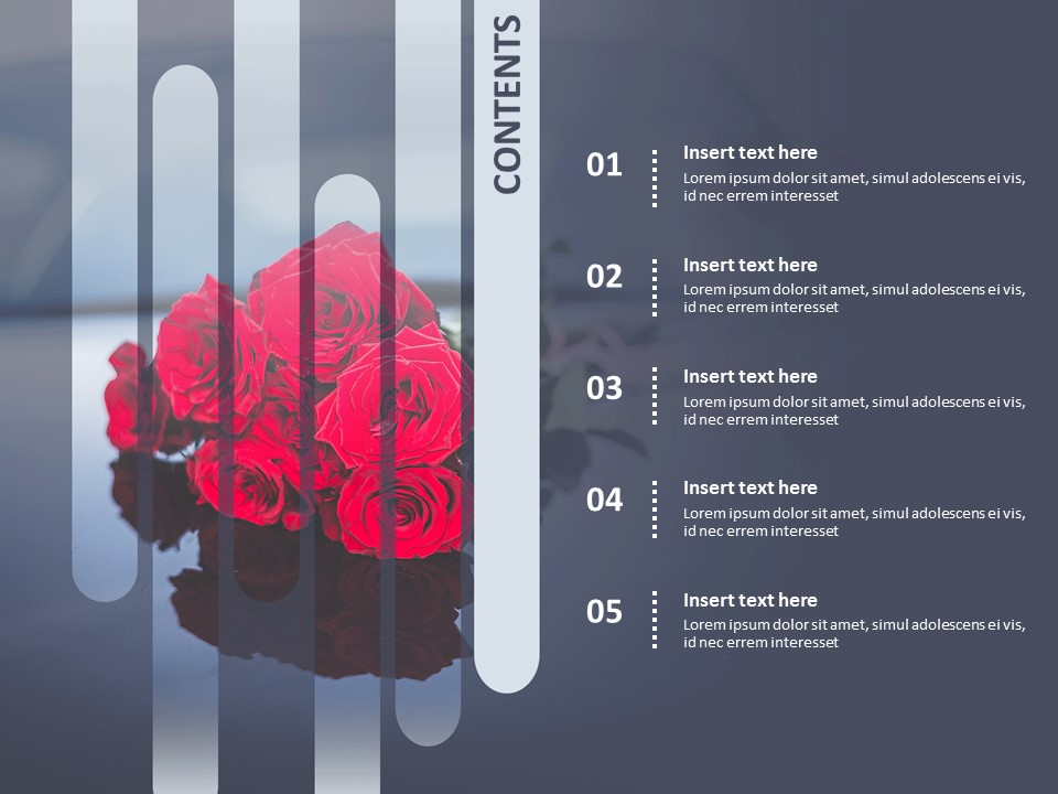 Event With A Bunch Of Roses Free Powerpoint Template