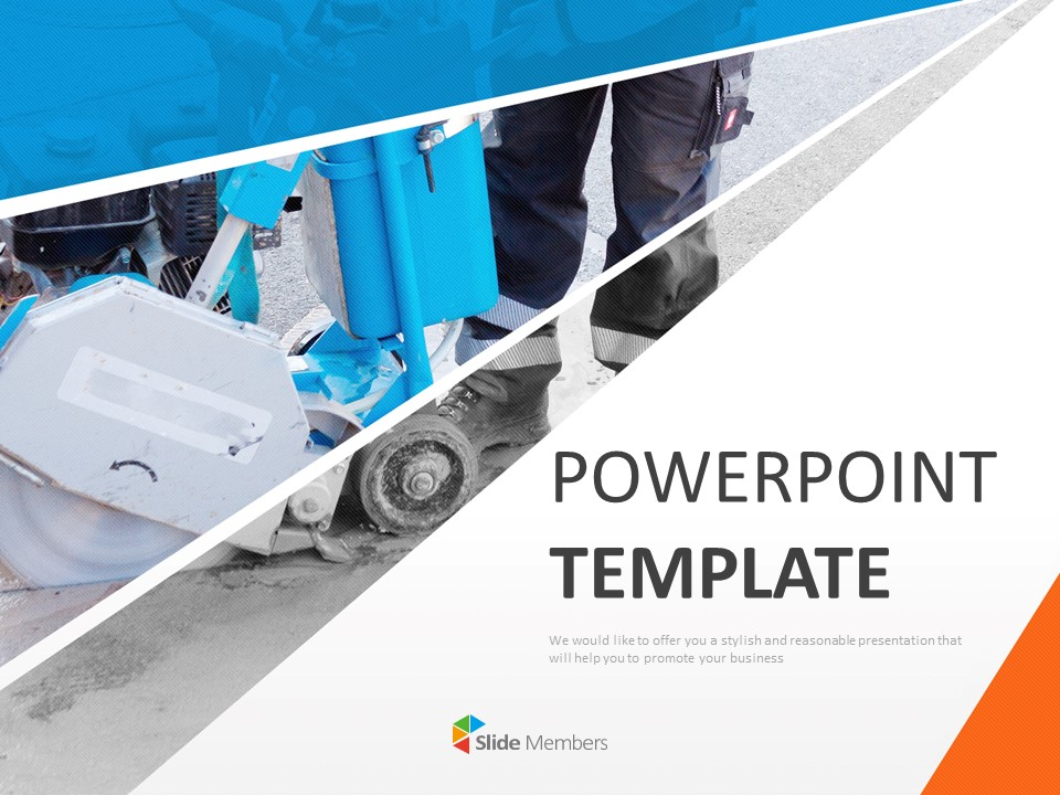 Expressway Construction Free Powerpoint Template Slides