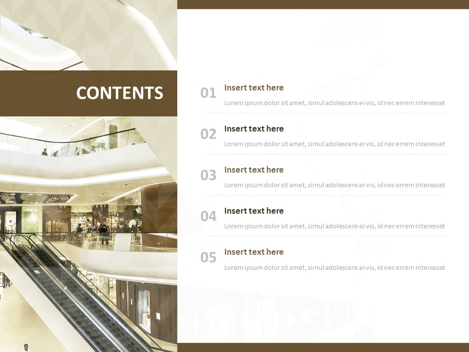 Free Powerpoint Template Department Store