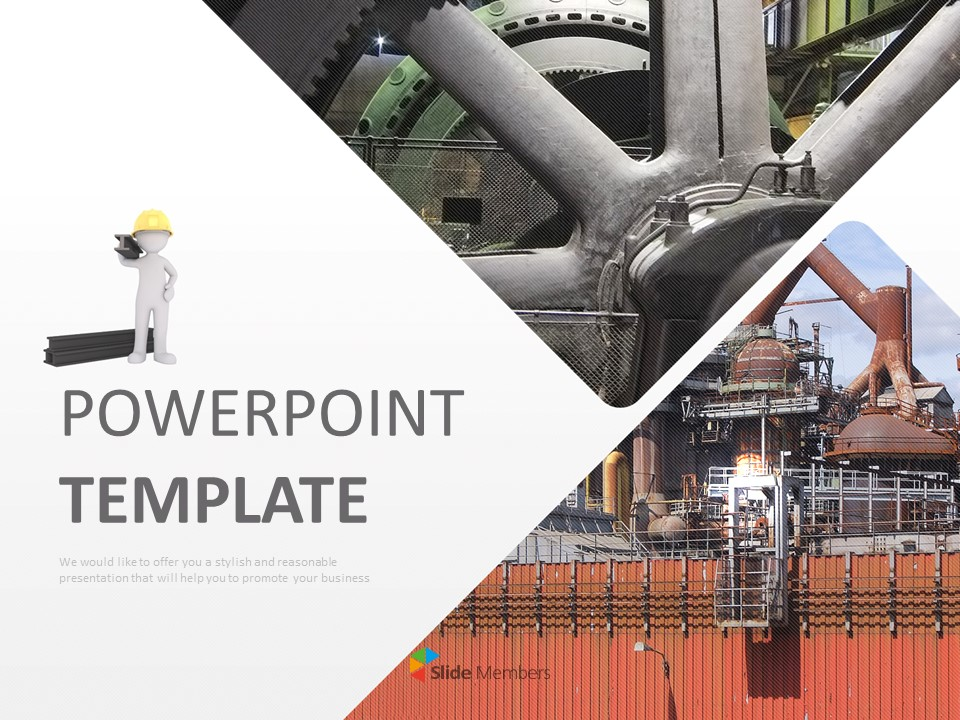 Free Ppt Template Steel Factory