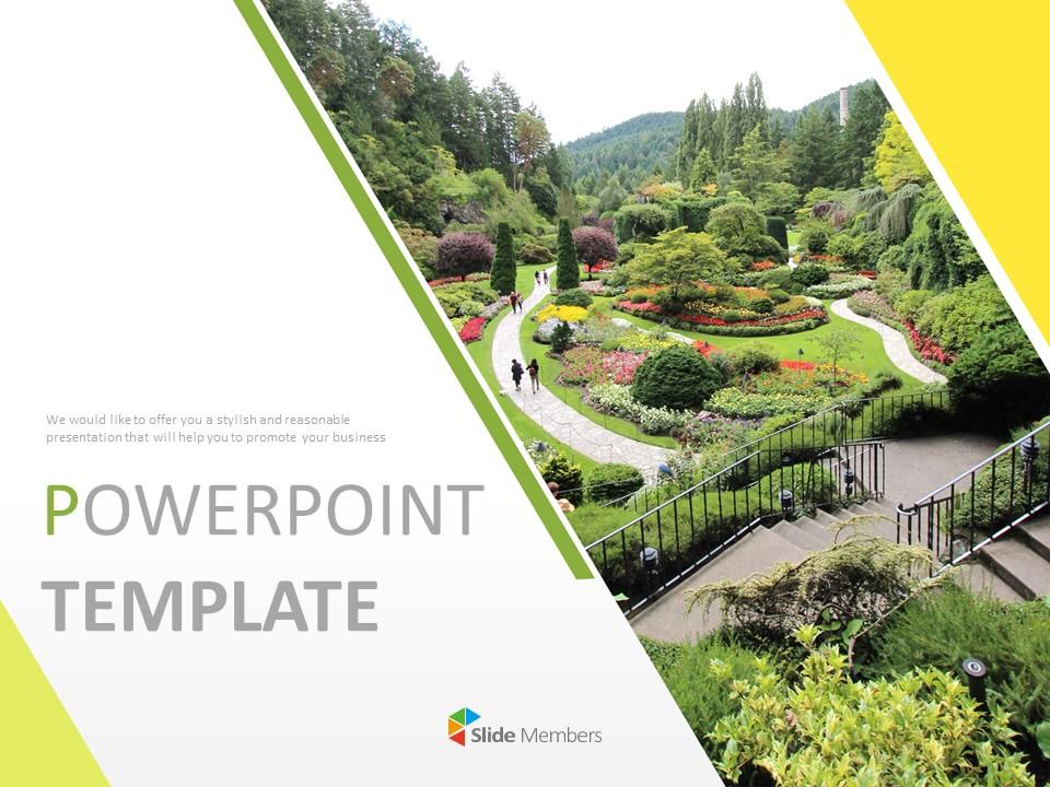 Garden Landscaping - Free Powerpoint Templates Design