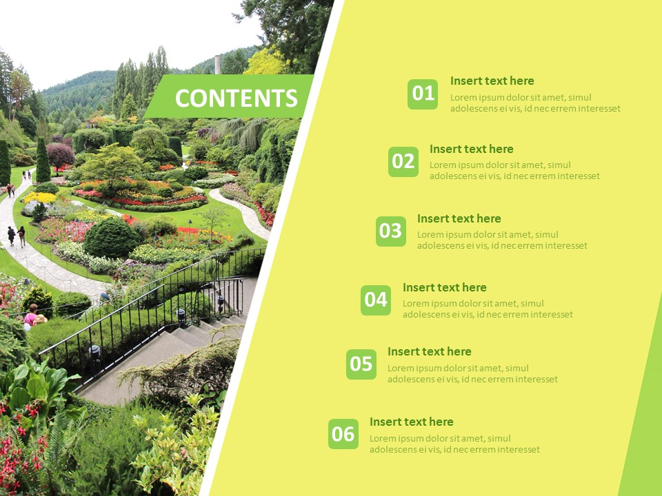 Garden Landscaping Free Powerpoint Templates Design,Personalized T Shirt Design For Burial