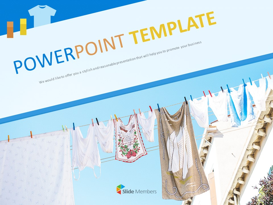Clean Laundry Free Powerpoint Template