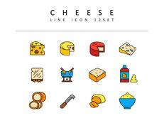 치즈 벡터 아이콘 세트_03
