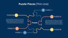 퍼즐 조각 Infographic 다이어그램_06