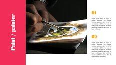 페인트, 화가 파워포인트 프레젠테이션 슬라이드_09