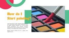 페인트, 화가 파워포인트 프레젠테이션 슬라이드_10