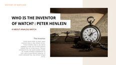 過去から現在まで:時計について 最高のキーノートのテンプレート_03