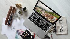 파워포인트 템플릿-사무실 노트북 모형_07