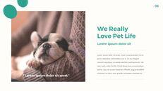 애완 동물 생활 심플한 파워포인트 템플릿 디자인_06