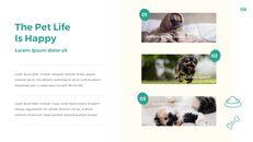 애완 동물 생활 심플한 파워포인트 템플릿 디자인_08