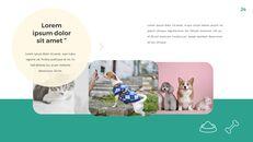 애완 동물 생활 심플한 파워포인트 템플릿 디자인_24