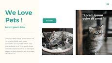 애완 동물 생활 심플한 파워포인트 템플릿 디자인_26