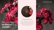 카네이션 꽃과 선물 피피티 템플릿 디자인_10