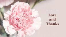 카네이션 꽃과 선물 피피티 템플릿 디자인_40