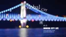 도시의 야경 테마 키노트 디자인_24