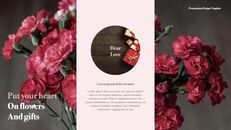 카네이션 꽃과 선물 키노트 템플릿_10