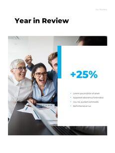 연간 보고서 맞춤형 구글 슬라이드_11