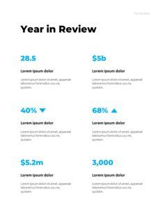 연간 보고서 맞춤형 구글 슬라이드_12
