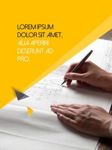 Architecture Vertical Design PPT Background_08