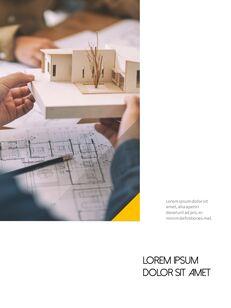 Architecture Vertical Design PPT Background_21