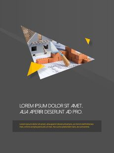 Architecture Vertical Design PPT Background_24
