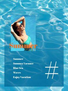 여름 바캉스 세로형 피피티 템플릿 샘플 디자인_16