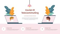 Post-Coronavirus World -  Social Distancing Simple PowerPoint Template Design_27